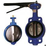 Затвор дисковый Ду200 Ру16 межфланцевый рукоятка чуг-диск-чуг EPDМ,110С KVA