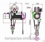 Таль электрическая ТЭ 5000 г/п 5т h=6-42м (режим по ГОСТ 25825: 3м,