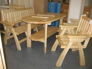 Мебель для бани и сауны из липы.