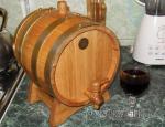 Бочка дубовая на 5 литров для вина и коньяка
