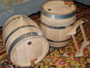 Бочка 25л скального дуба для производства вина, коньяка, виски