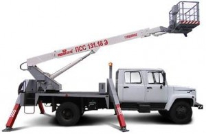 Автогидроподъемник стреловой телескопический самоходный на шасси ГАЗ-3309