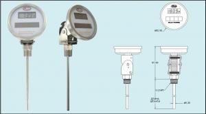 Цифровой биметаллический термометр с солнечной батареей Серия DBT Dwyer