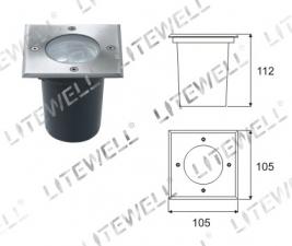 Светильник тротуарный встраиваемый H011S (LED-3731B)