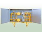 Газорегуляторный пункт шкафной (ГСГО) с одной линией редуцирования и байпасом.