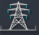 Прожекторные мачты и опоры ЛЭП