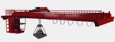 Кран мостовой грейферный г/п 40/5 т .