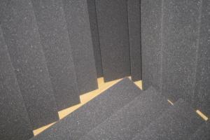 Поролон серый пл.22 г/м.куб толщ. 3 мм