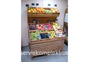 Стеллаж СО-201 для овощей и фруктов массив