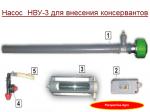 Насос НВУ-3 для внесения консервантов