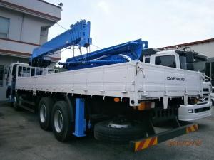 Продается крановая установка Dong Yang SS 2725 LB (10 т) на базе грузовика Daewoo Novus 2012 год