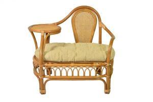 Кресло Эгоист из натурального ротанга (Темный мед)