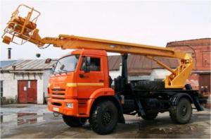 Автогидроподъемник ПСС-131.22Э на шасси КАМАЗ-43502