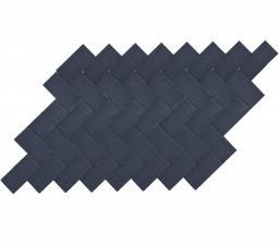 Тротуарная вибропрессованная плитка Прямоугольник, Черный, BRAER