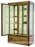 Кондитерский шкаф R800C Сarboma Люкс (D4 VM 800-1 (корич-золотой, 1/2, INOX  +2...+10