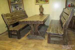 Мебель деревянная под старину. Брашированная древесина.