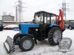 Экскаватор-бульдозер ЭО2626М (на базе трактора МТЗ-82.1) с прямым жёстким отвалом бульдозерным ОЖ-210