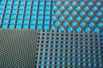 Перфорированный лист 1000 х 2000 мм сталь нерж Aisi 304 Rv 6,0-8,0 7,84 кг 1 мм