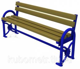 Скамейки уличные деревянные со спинкой