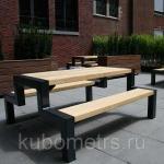 """Столы уличные садовые со скамейками """"Мерано"""" деревянные"""