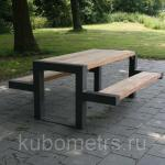"""Столы садовые уличные со скамейками """"Флорида"""" деревянные"""