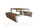 """Стол уличный деревянный садовый """"Каро"""" со скамейками"""