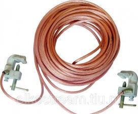 Заземление переносное ЗПМ-1М (35мм)длина провода 10 м