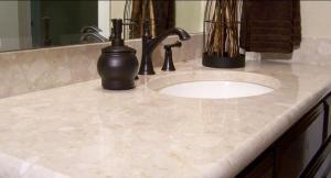 Столещницы для ванных комнат из искусственного камня, агломерата