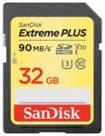 Sandisk Карта памяти SanDisk Extreme PLUS SDHC Class 10 UHS Class 3 V30 90MB/s 32GB