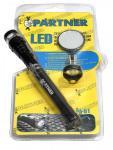 LED Телескопический фонарь с магнитом (3 светодиода+зеркало) Partner