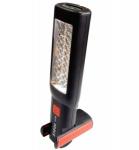 Лампа переносная светодиодная аккумуляторная с двумя магнитами + два крючка (поворотная180гр., б Rock FORCE