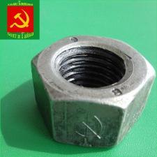 Гайка высокопрочная размер м48 оцинкованная коробка 25 кг ГОСТ 5915-70 класс прочности 10.0