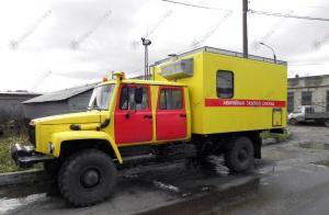 Садко Егерь ГАЗ-33081 автомобиль аварийной службы с двухрядной семиместной кабиной.