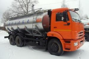 Пищевая автоцистерна 14 куб.м. на шасси КАМАЗ-65115