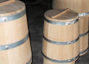 Кадка для засолки 25 литров из скального дуба с крышкой и гнетом