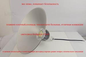 светодиодные промышленные светильники колокол