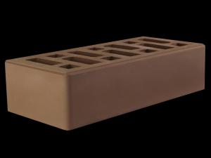Кирпич облицовочный керамический коричневый одинарный Старый Оскол