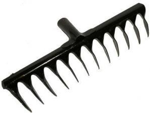 Грабли 14-зубьев,усиленные с ребрами жесткости