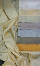 Ткань шелковая плотная, тонкая, легкая и тяжелая.