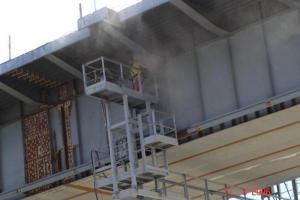 Пескоструйная очистка металлической и бетонной поверхности
