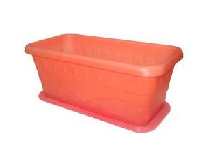 Ящик пластиковый для рассады и цветов «Феерия-3» 5,5 л с поддоном