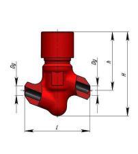 Клапан обратный 720-20-0 КП-160 (Ду20) присоединение под приварку, запчасти ППУА 1600/100, ППУ 1600/100, АДПМ-12/150