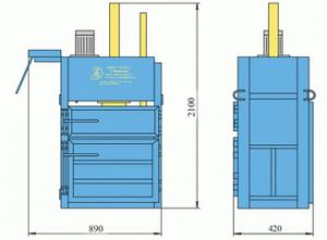 Пресс гидравлический пакетировочный ПГП-2 Мини