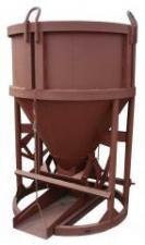 Бункер неповоротный для бетона рюмка, бадья, туфелька