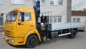 Автомобиль с бортовой платформой и КМУ PM11022 на шасси КАМАЗ-4308