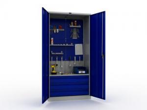 Шкаф металлический: напольный, нависной