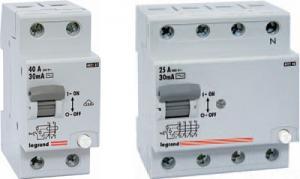 Дифференциальный автоматический выключатель Legrand 4 пол. 25А 30Ма