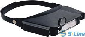 TK1008-2 головная бинокулярная лупа ,изменение кратности , подсветка