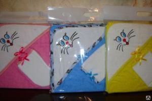 Купальный набор детский с вышивкой р.75*90