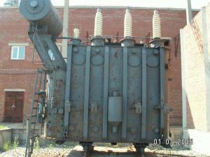 Силовой  трансформатор, масляный, б/у, сгоревший, списанный, выведенный из производства, невостребованный, с хранения, неликвидный, некомплектный.
